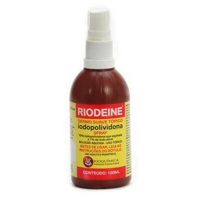 Rioquímica Riodeine Solução Tópica Spray 100ml