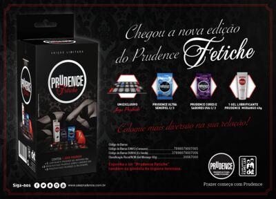 Imagem 2 do produto Kit Prudence Fetiche com Preservativos, Jogo e Gel com Sabor