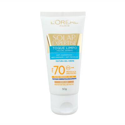 Protetor Solar Facial com Cor L'Oréal Expertise Toque Limpo FPS 70 50g