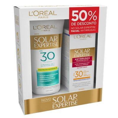 Kit L'Oréal  Expertise Supreme Protetor Solar FPS 30 200ml + Protetor Facial FPS 30 50ml