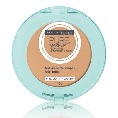 Imagem 1 do produto Pó Compacto Maybelline Pure Makeup Natural 13g
