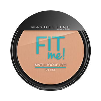 Maybelline Pó Compacto Mate + Toque Liso Fit Me! Cor 150 Claro Especial