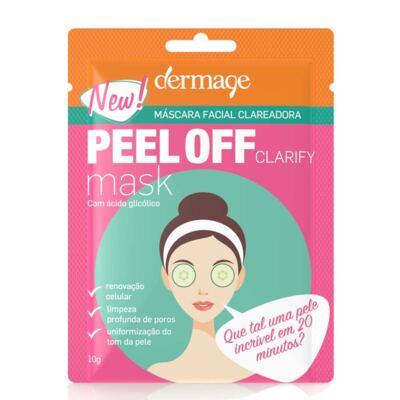 Imagem 2 do produto Kit Máscara Facial Clareadora Peel Off Dermage Sachê 10g 3 Unidades