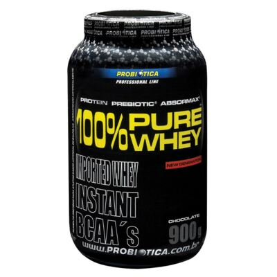 Suplemento 100 % Pure Whey Chocolate Probiótica 900g