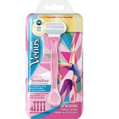 Kit Gillette Aparelho de Depilação Vênus Sensitive Olympics - 4 Unidades