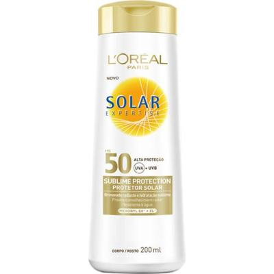 Imagem 1 do produto Protetor Solar L'Oréal Paris Solar Expertise Sublime Protection SPF 50 - 200ml