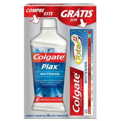 Imagem 1 do produto Enxaguatório Bucal Colgate Plax Whitening 500ml Grátis Creme Dental Colgate
