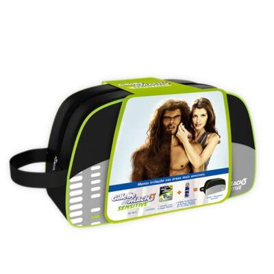 Imagem 1 do produto Kit Gillette Mach 3 Sensitive Gillette - Kit de Barbear - Kit