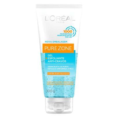 Imagem 1 do produto Esfoliante Facial L'Oréal Paris Gel Esfoliante Anti-Cravos Pure Zone Dermo Expertise - 100g