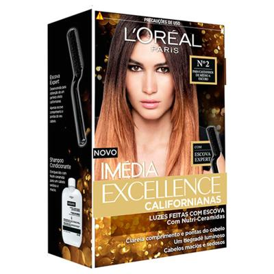 Imagem 1 do produto Tintura para Cabelos L'oréal Paris Imédia Excellence Californianas - 2 - Castanhos de médio a escuro
