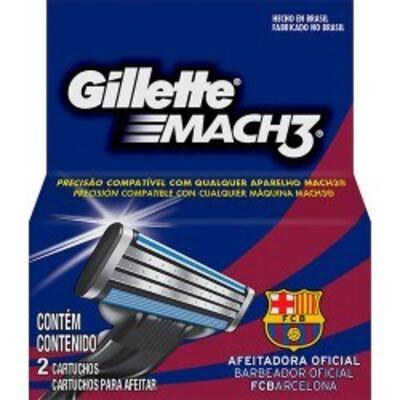 Carga para Aparelho de Barbear Gillette Mach3 Barcelona - 2 unidades