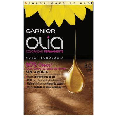 Imagem 1 do produto Tintura Garnier Olia 8.0 Louro Claro