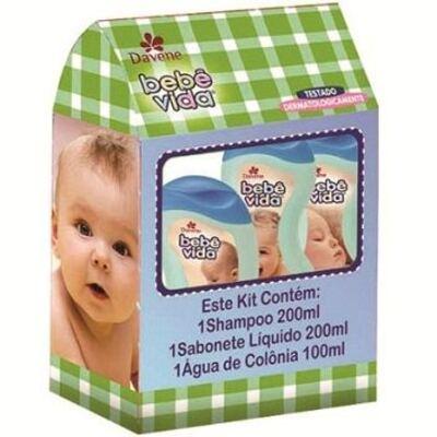 Kit Davene Cuidado Bebê Vida Shampoo + Sabonete Líquido