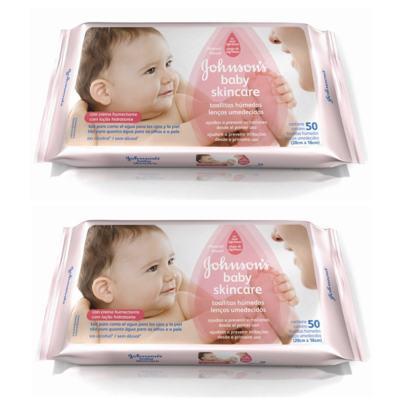 Lenço Umedecido Johnson´s Baby Skincare 50 2 Unidades