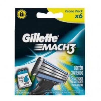 Imagem 4 do produto Carga para Aparelho de Barbear Gillette Mach3 Turbo - 6 unidades