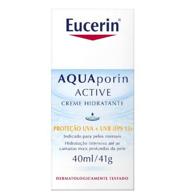 Imagem 8 do produto Eucerin Creme Hidratante Facial Aquaporin Active FPS15 40ml