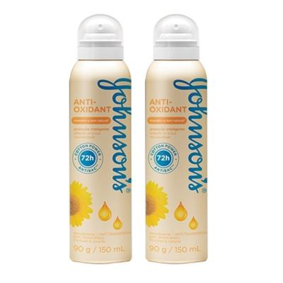 Desodorante Johnson´s Aerosol Anti-Oxidante 150ml 2 Unidades