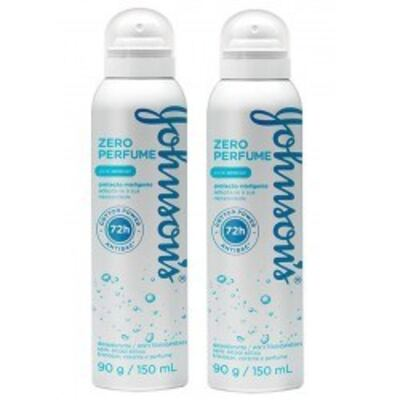 Imagem 2 do produto Desodorante Johnson´s Aerosol Zero Perfume 2 Unidades