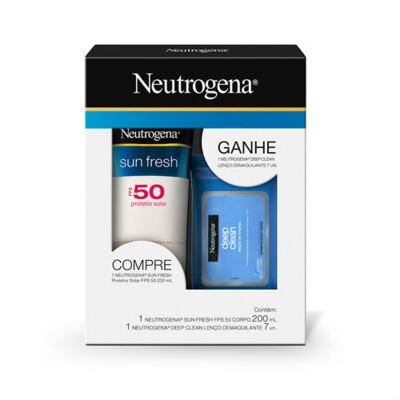 Imagem 1 do produto Kit Neutrogena Sunfresh FPS50 200ml Grátis Wipes Johnson´s