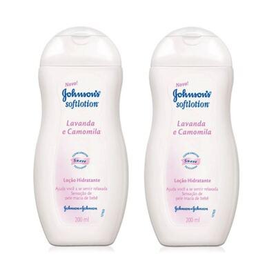 Imagem 1 do produto Loção Hidratante Johnson´s Soft Lavanda Camomila 200ml 2 Unidades