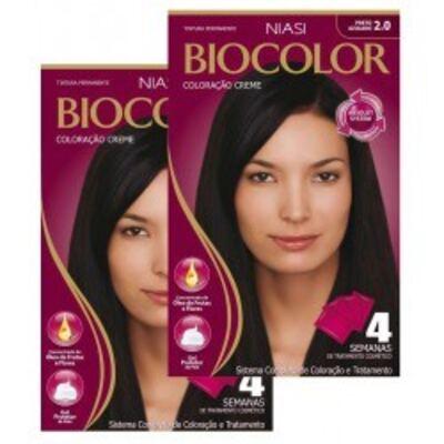Tintura Biocolor Preto Azulado 2.0 com 2 unidades