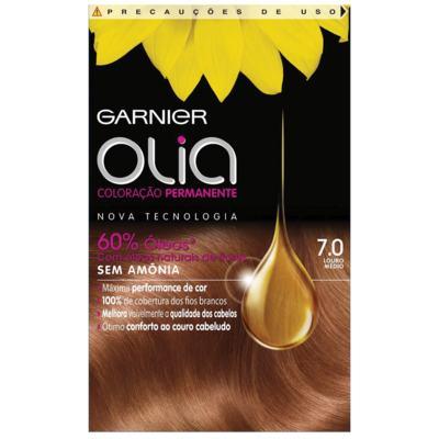 Imagem 1 do produto Tintura Garnier Olia 7.0 Louro Médio