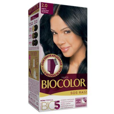 Kit Biocolor Tintura S.O.S Preto Azulado 2.0