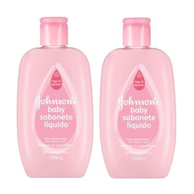 Sabonete Líquido Johnson´s Baby Hidratante Pink 200ml 2 Unidades