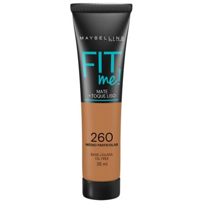 Maybelline Base Líquida Oil Free Fit Me! Cor 260 Médio Particular 35ml