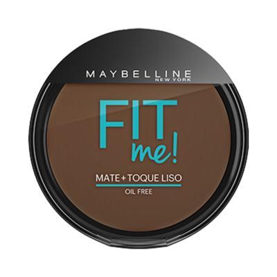 Maybelline Pó Compacto Mate + Toque Liso Fit Me! Cor 340 Escuro Autêntico