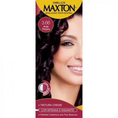 Imagem 1 do produto Kit Maxton Tintura Prático 3.66 Acaju Purpura