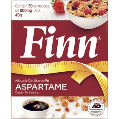 Adoçante em Pó Finn Aspartame 8g C/ 50 Envelopes