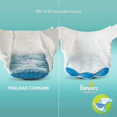 Imagem 2 do produto Fralda Pampers Confort Sec P 50 unidades -