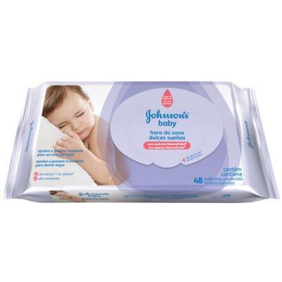 Lenço Umedecido Johnson´s Baby Hora do Sono 48 Unidades
