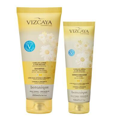 Shampoo Vizcaya Botanique Loiros e com Mechas 200ml + Condicionador Vizcaya Botanique Loiros e com Mechas 150ml