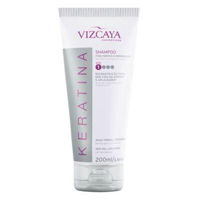 Imagem 4 do produto Shampoo Keratina Vizcaya 200ml + Condicionador Keratina Vizcaya 150ml