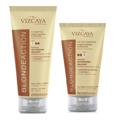 Shampoo Vizcaya Blonde Action 200ml + Condicionador Vizcaya Blonde Action 150ml