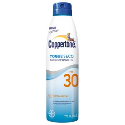 Protetor Solar Spray Coppertone Toque Seco FPS 30 177ml