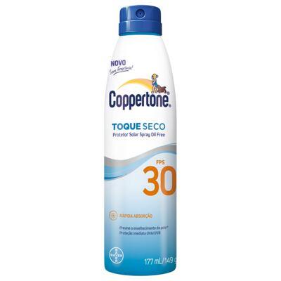 Imagem 1 do produto Protetor Solar Spray Coppertone Toque Seco Fps 30 177ml