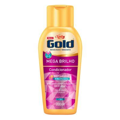 Imagem 3 do produto Kit Niely Gold Mega Brilho Shampoo 300ml + Condicionador 200ml