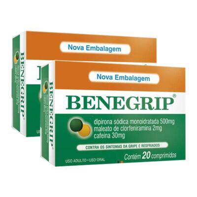 Kit Benegrip 20 Comprimidos 2 Caixas