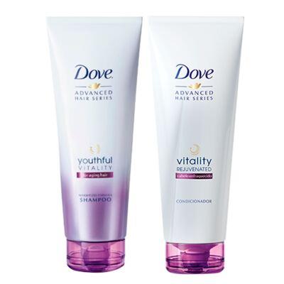 Imagem 1 do produto Kit Dove Vitality Rejuvenated Shampoo + Condicionador 200ml
