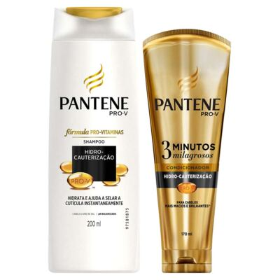 Kit Pantene Hidro-Cauterização Shampoo 200ml + Condicionador 3 Minutos Milagrosos 170ml