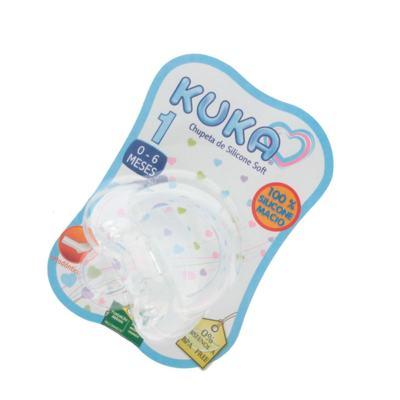 Imagem 1 do produto Chupeta de Silicone Kuka Soft Ortodôntica Tamanho 1 0-6 Meses -