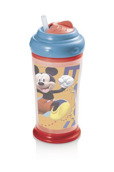 Imagem 1 do produto Copo Térmico com Canudo de Silicone Mickey Multikids Baby - BB088