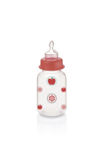 Mamadeira Nature Pp Vermelha Ortoflex 125ml Multikids Baby - BB114