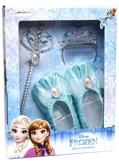 Acessórios Frozen - Sapatilhas, Coroa e Varinha - BR620