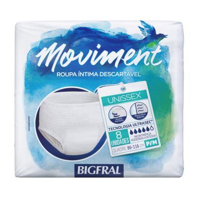 Imagem 1 do produto Roupa Íntima Descartável Bigfral Moviment P/M 8 Unidades