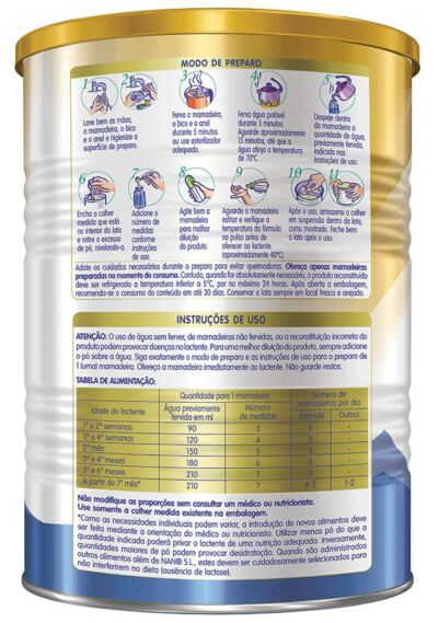 Imagem 2 do produto Fórmula Infantil NAN Sem Lactose Lata 400g