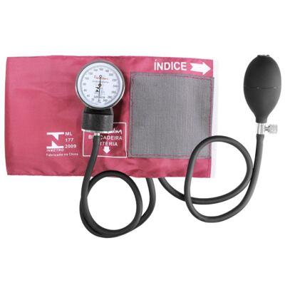 Imagem 1 do produto Kit Esteto Cardiológico Preto com Aparelho de Pressão Vinho Premium